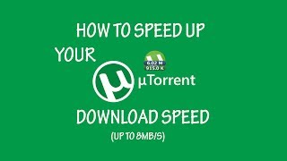 getlinkyoutube.com-Best Utorrent Download Settings Up To 8MB/s UPDATED JANUARY 2017