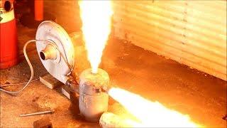 getlinkyoutube.com-waste Oil Burner big flames