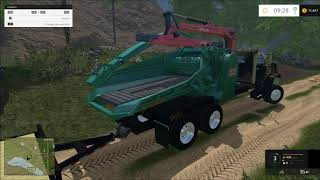 getlinkyoutube.com-Farming simulator 2015 GMC Log truck and more!!