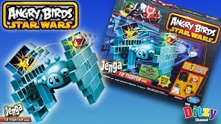 getlinkyoutube.com-STAR WARS | Angry Birds Tie Fighter Jenga Toy Game Unboxing By The Ditzy Channel