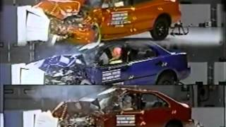 getlinkyoutube.com-22. Dateline 1997, 1998, 1999, 2000 IIHS Small Cars Offset Crash Test.flv
