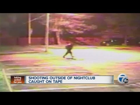 Shooting outside of nightclub caught on tape
