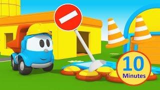 getlinkyoutube.com-Cartoni Animati per bambini: Leo il camion curioso cambia casa