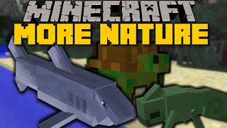 getlinkyoutube.com-Minecraft: ANIMALS PLUS (Sharks, Whales & More) 12+ New Mobs - Mod Showcase