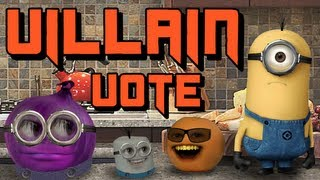 getlinkyoutube.com-Annoying Orange : Annoying Orange - Despicable Me 2 - Choose Your Villain!