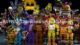 getlinkyoutube.com-All FNAF Characters Sing The FNAF Song