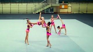 getlinkyoutube.com-Художественная гимнастика. Команда ОГУ 2004-2005, Одинцово, б.п. Волейбольный, 21.05.2015