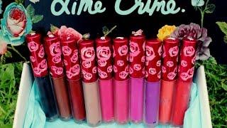 getlinkyoutube.com-Lime Crime Velvetines Lip Swatches