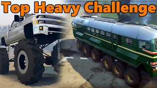 getlinkyoutube.com-Spin Tires | TOP HEAVY CHALLENGE - VW Samba, MONSTER Chevy, and TRAIN!?