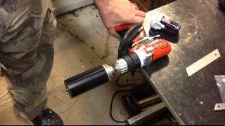 getlinkyoutube.com-shaving a cylinder using a power drill / WATCH THIS VIDEO !!!!