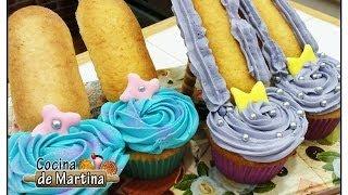getlinkyoutube.com-Cupcakes zapatos | Recetas de cocina | Cocina de Martina