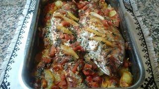 getlinkyoutube.com-سمك في الفرن مع الأرز لذيذ جدا poisson au four
