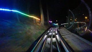getlinkyoutube.com-Smoky Mountain Alpine Coaster at night HD POV @60fps