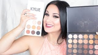 getlinkyoutube.com-WASTE of Money? Kyshadow Palette Review vs Morphe 35O  - Kylie Review + Tutorial & Swatches