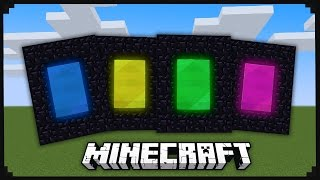 Custom Minecraft Portals (With 9 Different Colors)