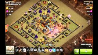 getlinkyoutube.com-3 Star attack TH 10 with 5 Healer
