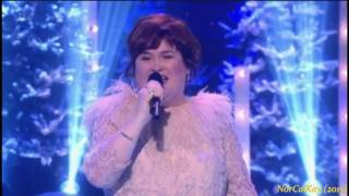 "getlinkyoutube.com-Susan Boyle ~ ABBA ""Thank You For the Music"" Christmas Party & The Kiss (24 Dec 15)"