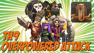 getlinkyoutube.com-M4X OVERPOWERED TH9 Attack Strategy Killing It In Clan War! | Quad Earthquake Spell | Clash of Clans