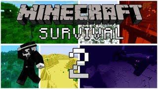 getlinkyoutube.com-Minecraft Survival: Episode 2 - Chó,Creeper và ruộng lúa mì