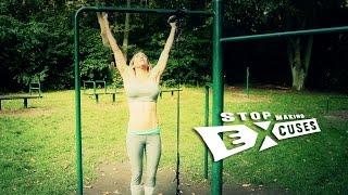 "getlinkyoutube.com-Cornelia Ritzke: Calisthenics HIIT (advanced) ""Stop Making Excuses"" - deutsch / english subs"