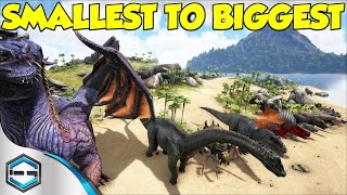 getlinkyoutube.com-Ark Survival Evolved Smallest To Biggest Dino's & Information