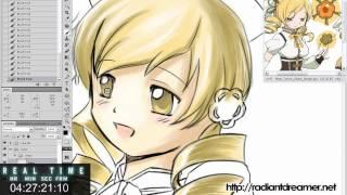 Anime Photoshop - Puella Magi Madoka Magica Blazblue Crossover AMV клипы 2011