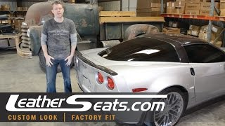 getlinkyoutube.com-Chevrolet Corvette 2012 sport seat leather upholstery and foam conversion upgrade - LeatherSeats.com