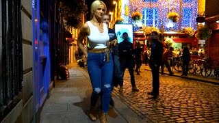 getlinkyoutube.com-Dublin on a Saturday night. Temple Bar, nightlife, night out, pubs, bars, drinking, laugh, streets.