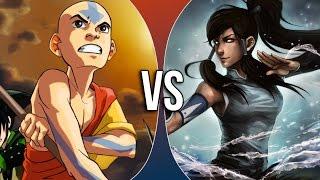getlinkyoutube.com-Versus Series | Aang vs Korra