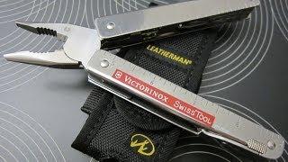 getlinkyoutube.com-Victorinox SwissTool CS Plus Multitool + Leatherman Standard Nylon Holster I