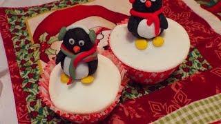 Cupcake de natal Pinguim