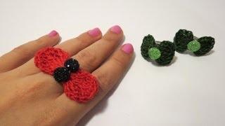 getlinkyoutube.com-كروشيه فيونكه بسيطة   Crochet Simple Bow