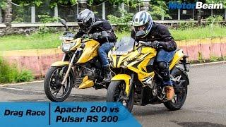 getlinkyoutube.com-TVS Apache 200 vs Pulsar RS 200 - Drag Race | MotorBeam