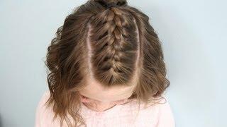 getlinkyoutube.com-Single French {Braid} Back | Short Hair | Cute Girls Hairstyles