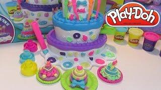 getlinkyoutube.com-Пластилин для детей Плей До - набор Праздничный Торт Play doh Mountain cake