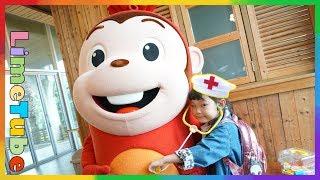 getlinkyoutube.com-코코몽이 아파요! 라임이 장난감 병원놀이 코코몽 에코파크 어린이 놀이터 놀이공원 Cocomong Eco Park Children Playground LimeTube