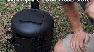 getlinkyoutube.com-Tiny Wood Stove Made From A Propane Tank
