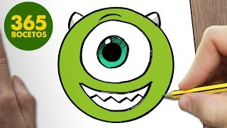 getlinkyoutube.com-COMO DIBUJAR MIKE WAZOWSKI EMOTICONOS WHATSAPP KAWAII PASO A PASO - Dibujos kawaii fáciles