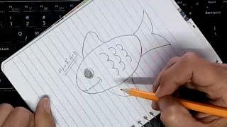 getlinkyoutube.com-تعلم الرسم للاطفال : بالخطوات كيف ترسم سمكة جميلة بسيطة بالرصاص خطوة بخطوة