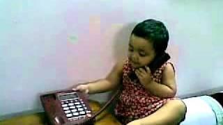 getlinkyoutube.com-Bangla kid funny video - baby girl talking over phone 18082010
