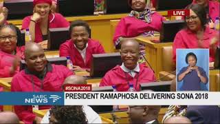 MUST WATCH: President Ramaphosa shares a moment with Malema #SONA2018
