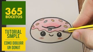 getlinkyoutube.com-COMO DIBUJAR UN DONUT KAWAII PASO A PASO - Dibujos kawaii faciles - How to draw a donut