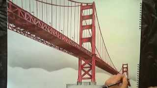 getlinkyoutube.com-Drawing: Golden Gate Bridge