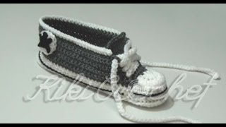 getlinkyoutube.com-Crochet Converse Shoes Adult Size (pt 1)