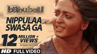 Nippule Swasaga Full Video Song    Baahubali (Telugu)    Prabhas, Rana, Anushka, Tamannaah