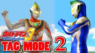 Ultraman FE3 - Tag Mode Part 2 - Ultraman Gaia & Agul ( 1080P HD 60fps )