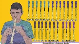getlinkyoutube.com-Bruno Mars - Uptown Funk en Flauta Dulce con Notas