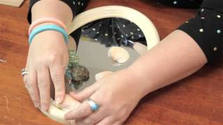 getlinkyoutube.com-Tips on Putting Seashells on a Mirror Frame : Cute Crafts