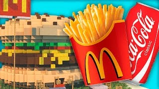 Minecraft Mod - MCDONALD'S, BURGER KING, COCA COLA! - Fast Food Mod