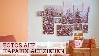 getlinkyoutube.com-Wandschmuck: Fotos auf Kapafix aufziehen
